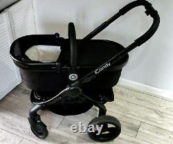ICandy Peach 3 Travel System Black Stroller, Carrycot & Maxi-Cosi Car Seat