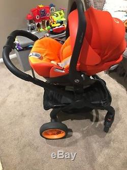 Icandy Peach Dc Black Edition Stroller And Carrycot With Cybex Car Seat