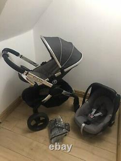 ICandy Peach Two In One Pushchair/Pram In Grey & Silver With Car Seat Free P&P