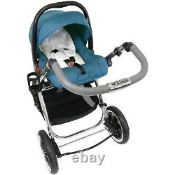 IVogue Teal Luxury 3in1 Pram Stroller Travel System (Car Seat Included)