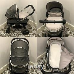 Icandy Peach 3 Truffle Pram Pushchair Carrycot Car Seat 3 In 1 Travel System