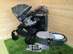 Icandy peach 3 truffle 2 buggy with carrycot parasol car seat adapters
