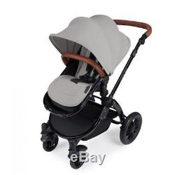 Ickle Bubba Stomp V2 AIO Travel System + 2nd Stage Car Seat- Silver on Black