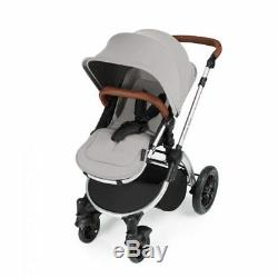 Ickle Bubba Stomp V2 AIO Travel System + 2nd Stage Car Seat- Silver on Silver