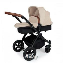Ickle Bubba Stomp V3 Isofix Travel System sand on black & 2nd Stage Car Seat