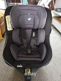 Joie Spin 360 (Group 0+/1) isofix car seat Black/Grey Excellent Condition