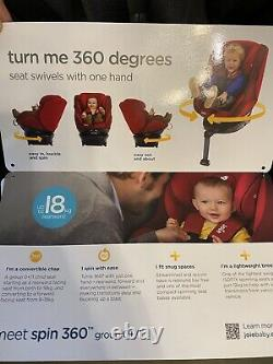 Joie spin 360 Group 0+/1 Car Seat Black USED but Excellent condition rrp£200