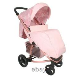 Katie Piper MB200+ Rose Gold Floral Travel System Pushchair Car Seat Carry Cot