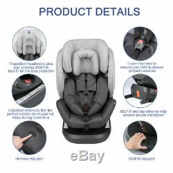 Kids Baby Car Seat Isofix 360°Top Tether Safety Booster Adjustable Group 0/1/2/3