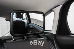 Large 360° Rear Baby Child Back Seat Wide Car Safety Mirror Headrest Mount Kids