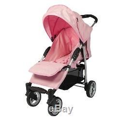 Leatherette Travel System, From Birth withCar Seat, Footmuff, Changing Bag Pink