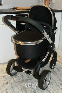 Lovely Icandy Peach 2 Black Magic Travel System 3 In 1 Maxi Cosi Car Seat