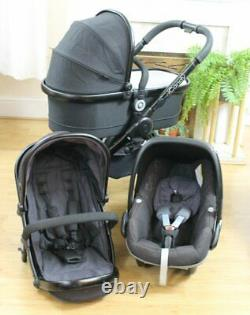 Lovely Icandy Peach 3 Jet Black Travel System 3 In 1 Maxi Cosi Pebble Car Seat