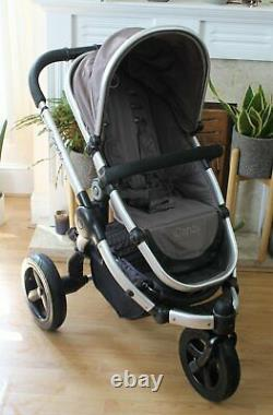 Lovely Icandy Peach Glacier Grey All Terrain Travel System 3 In 1 Maxi Car Seat