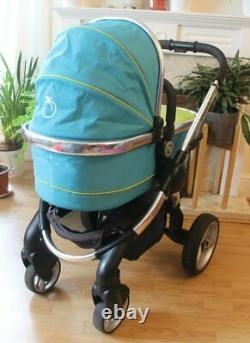 Lovely Icandy Peach Sweet Pea Blue Pram Travel System 3 In 1 Maxi Cosi Car Seat