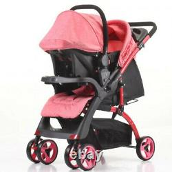 Mamakids 2-in-1 Travel System Stroller Pushchair Pram Buggy with Baby Car Seat