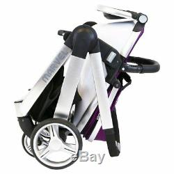 Marvel Combi 3in1 Travel System Pram Pushchair With Carrycot & Carseat Navy