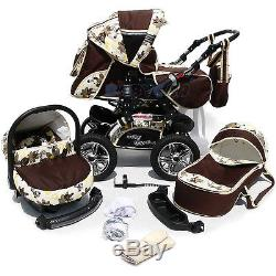 NEW Baby Pram Child Stroller Pushchair + Car Seat 3in1 NEW COLOURS