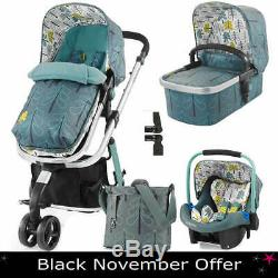 New Cosatto Giggle 2, 3 in 1 Travel System + Port Car Seat & Accessories, Fjord
