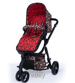 New Cosatto Paloma giggle 3 in hear us roar with Car Seat base bag and footmuff