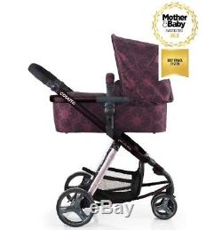 New Cosatto giggle 2 3 in 1 travel system in Posy with car seat bag & footmuff