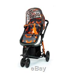 New Cosatto giggle 3 Travel System Charcoal Mister Fox with Car Seat & raincover