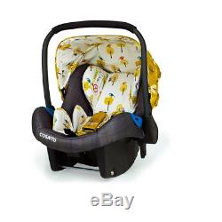 New Cosatto giggle 3 Travel system in Spot the birdie with Car Seat & Raincover