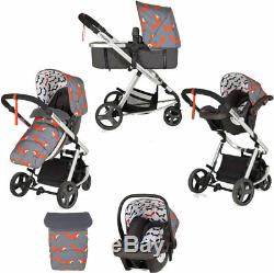 New Cosatto giggle mix pram and pushchair Mister Fox with car seat and raincover