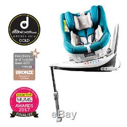 New Cozy N Safe Blue / Grey Merlin 360 Group 0+/1 Reclining Isofix Baby Car Seat