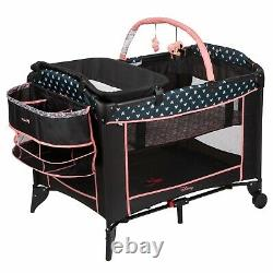 New Disney Baby Travel System with Car Seat Infant Playard Crib Girls Combo Set