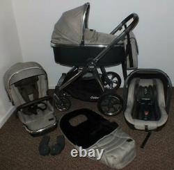 Oyster 3 Pebble luxury full travel system INC car seat, footmuff carrycot & bag