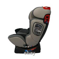 Parker Grey Child Baby Car Seat Ages 0-12 Safety Booster Seat Group 0/1/2/3