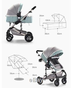 Premium 3 In 1 with Car Seat Travel System Baby Stroller pram buggy in 5 colours