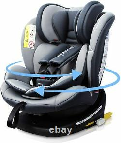 Reecle 360 Swivel Baby Car Seat with ISOFIX, Group 0+1/2/3 (0-36 kg), 0-12 years