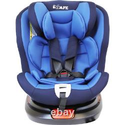 Rotating Child Toddler Baby Age 0-12 Years Blue Car Seat Inc Isofix