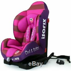 SALE! ISafe iSOFIX Reclining Carseat Group 1 9months 4 years Button Owl