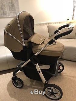 Silver Cross Pioneer Sand Travel System/Simplicity car seat/Adapters/Carrycot