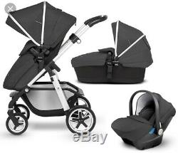 Silver Cross Pioneer Special Edition RRP £945 In Silver Pushchair Car Seat Onyx