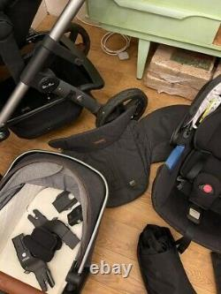 Silver Cross Wave Complete Travel System with Car Seat Granite