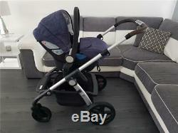 Silver Cross Wave Midnight Blue Double Pram Pushchair Simplicity Car Seat System