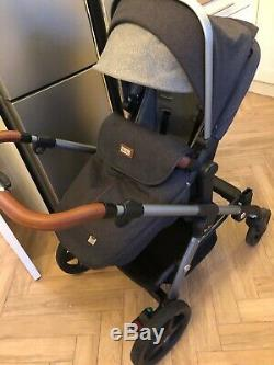 Silver Cross Wave Travel System-Pram, IsofIx, Carrycot, Car Seat & Bag RRP £1450