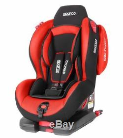 Sparco Child Seat F500i EVO ISOFIX RED ECE Safety Auto Car Baby Secure Kids