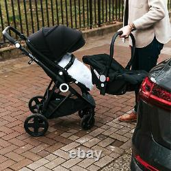 The Million Dreams 3 In 1 Travel System Pushchair Car Seat Changing Bag Black