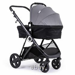 The Million Dreams 3 In 1 Travel System Pushchair Car Seat Changing Bag Dark