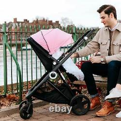 The Million Dreams 3 In 1 Travel System Pushchair Car Seat Changing Bag Pink