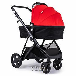 The Million Dreams 3 In 1 Travel System Pushchair Car Seat Changing Bag Red