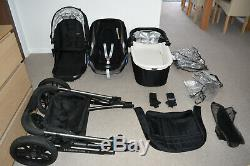 Travel System 3in1 UPPABaby Vista in Black inc Maxi Cosi Cabriofix Car Seat