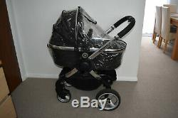Travel System 3in1 iCandy Peach2 in Black Magic inc Maxi Pebble Car Seat