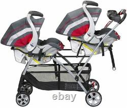 Twin Stroller Universal Frame Double Baby Brothers Trend Infant Car Seats Basket