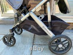 Uppababy Vista 2018 Double Henry, Rumble, Bassinet, Piggyback, 2 Car Seats, Accs